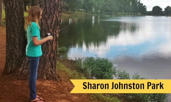 fishing at Sharon Johnston Park